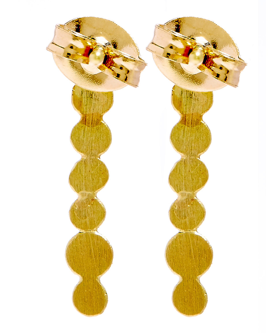 earrings lyst metallic dot sia product gold medium line normal in jewelry gallery taylor stud