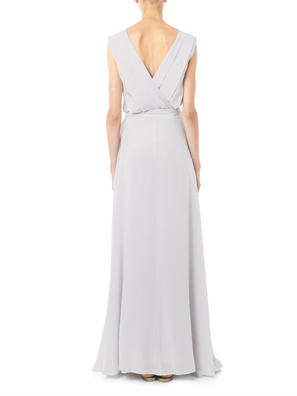 Lyst - Zeus+dione Isidora Embroidered Silk-crepe Dress in Gray
