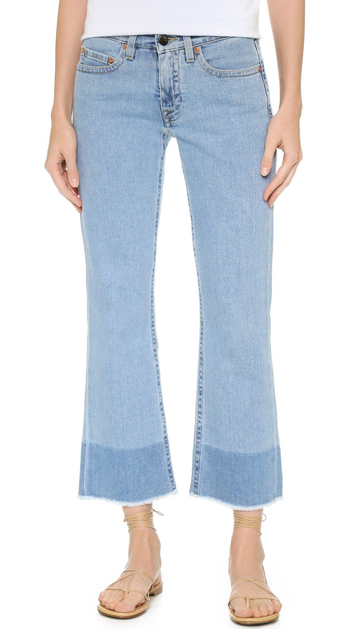 victoria victoria beckham kick flare jeans in blue lyst. Black Bedroom Furniture Sets. Home Design Ideas