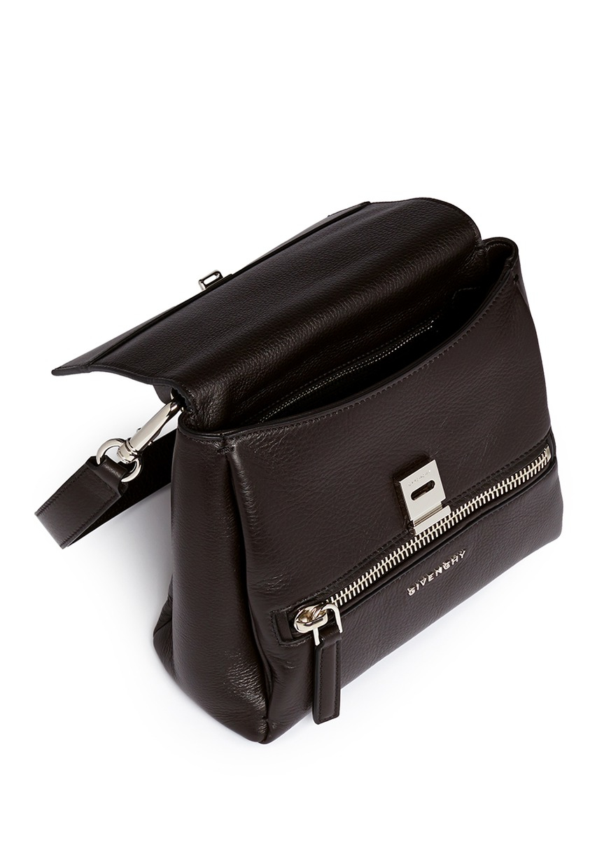 cc0034cbf782 wholesale givenchy handbags - Givenchy Pandora Pure Mini Leather Flap Bag  in Black - Save 10