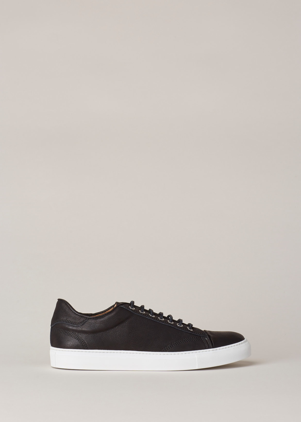 d664779b56a7 Lyst - Wings + Horns Black white Leather Low Top Sneaker in Black ...
