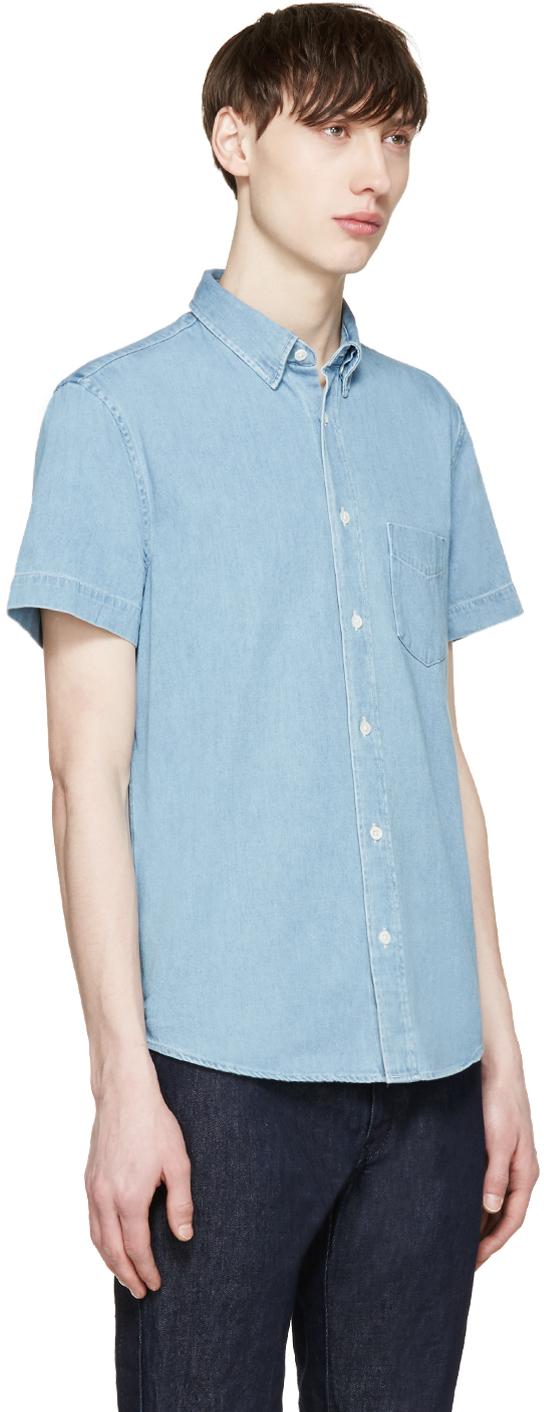 c284909ec3b Lyst - Acne Studios Blue Denim Superbleach Isherwood Shirt in Blue ...