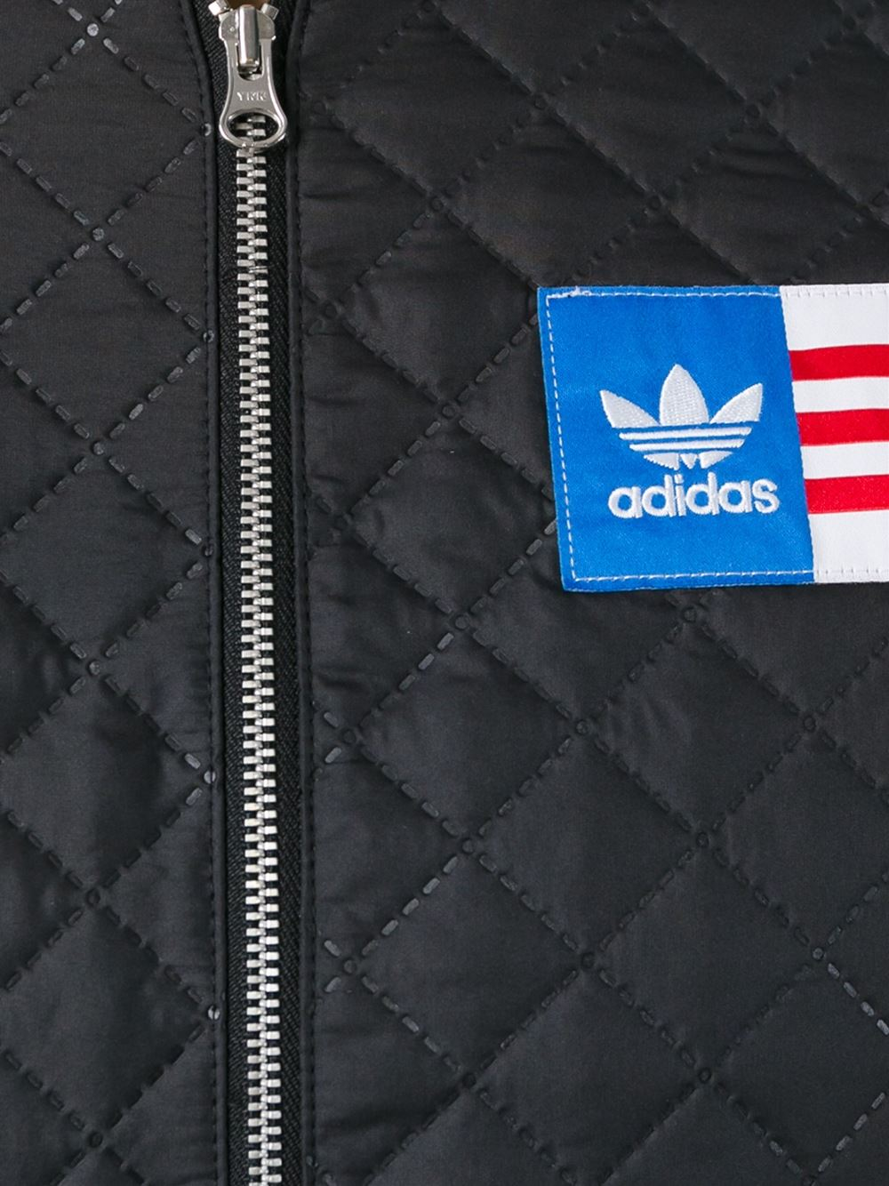 Adidas Originals Quilted Cropped Jacket In Black Lyst
