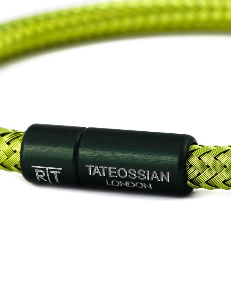 Tateossian Soho Bracelet In Green For Men Lyst