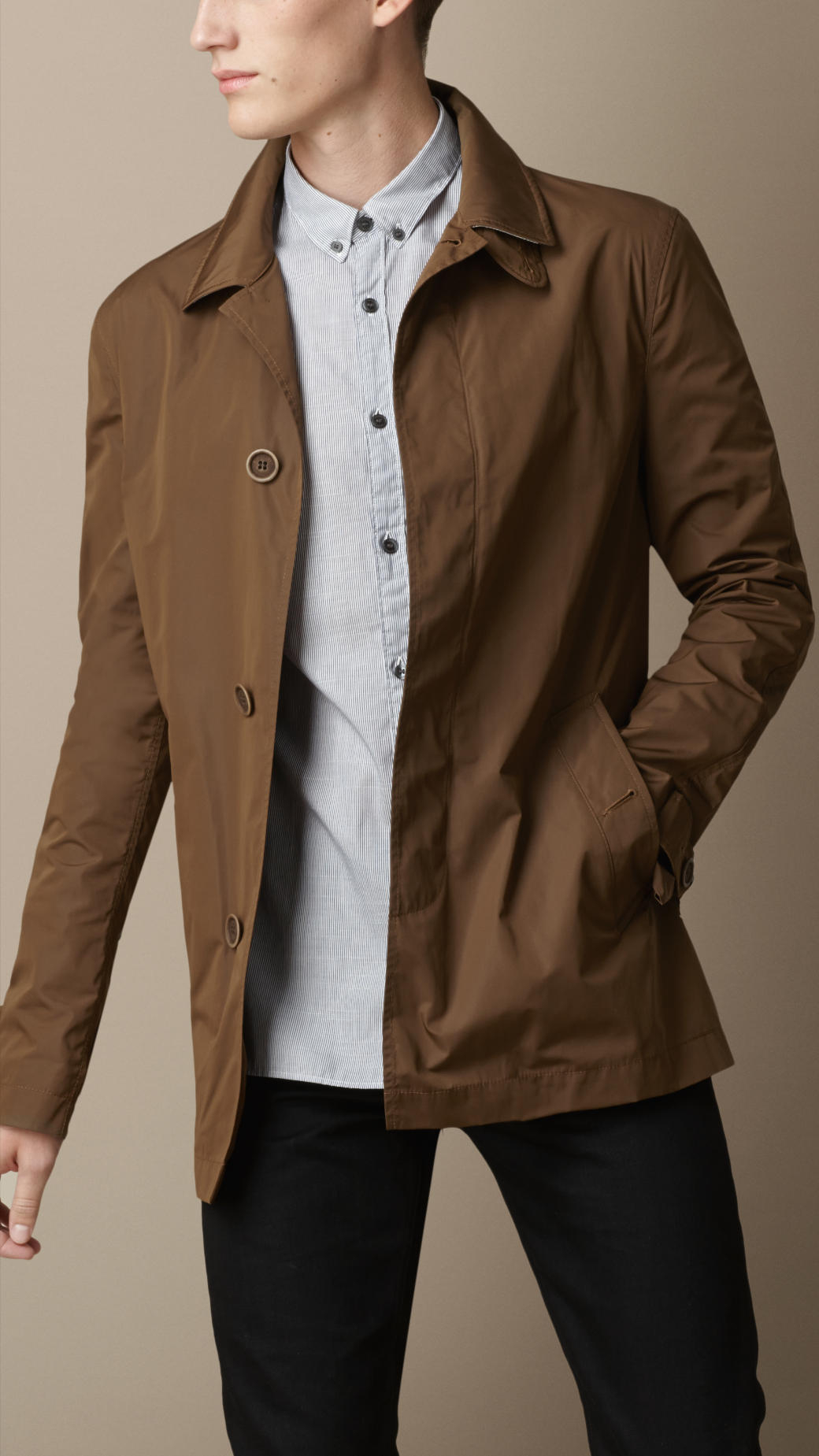 Burberry Showerproof Car Coat in Brown for Men | Lyst