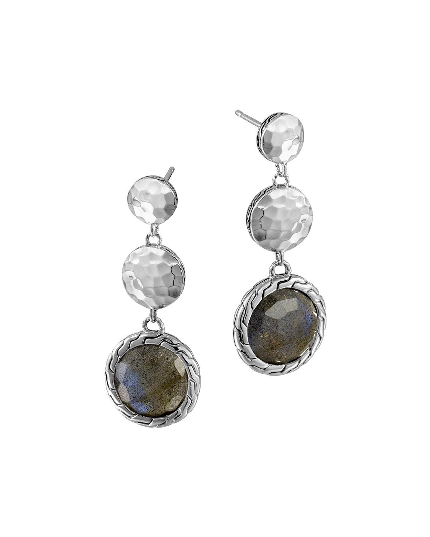 John hardy silver triple drop labradorite earrings in for John hardy jewelry earrings