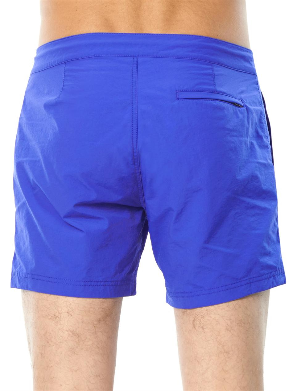 762eec0a3b Sunspel Front-Pocket Swim Shorts in Blue for Men - Lyst
