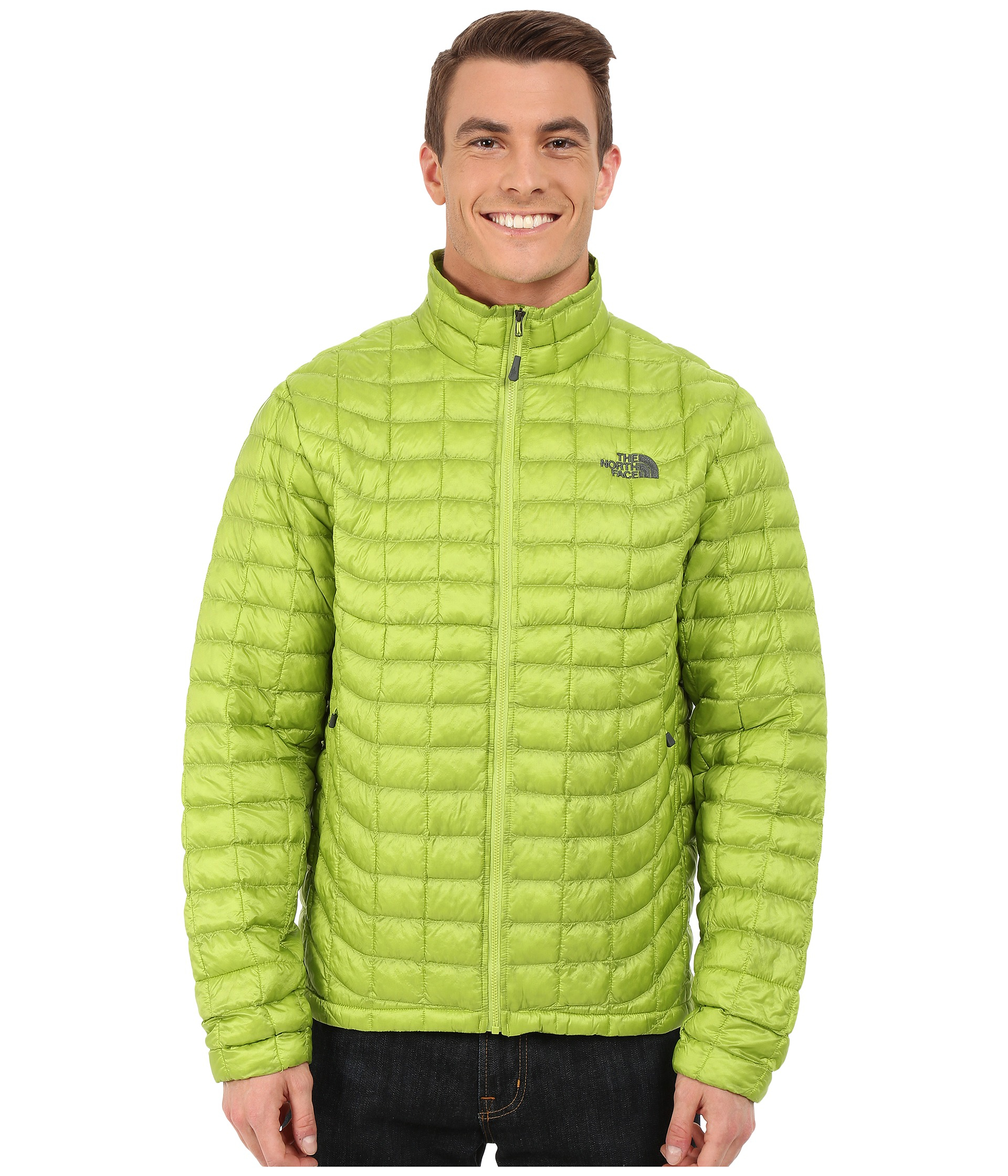 Lyst - The North Face Thermoball™ Full Zip Jacket in Green for Men 2c4d317bef83