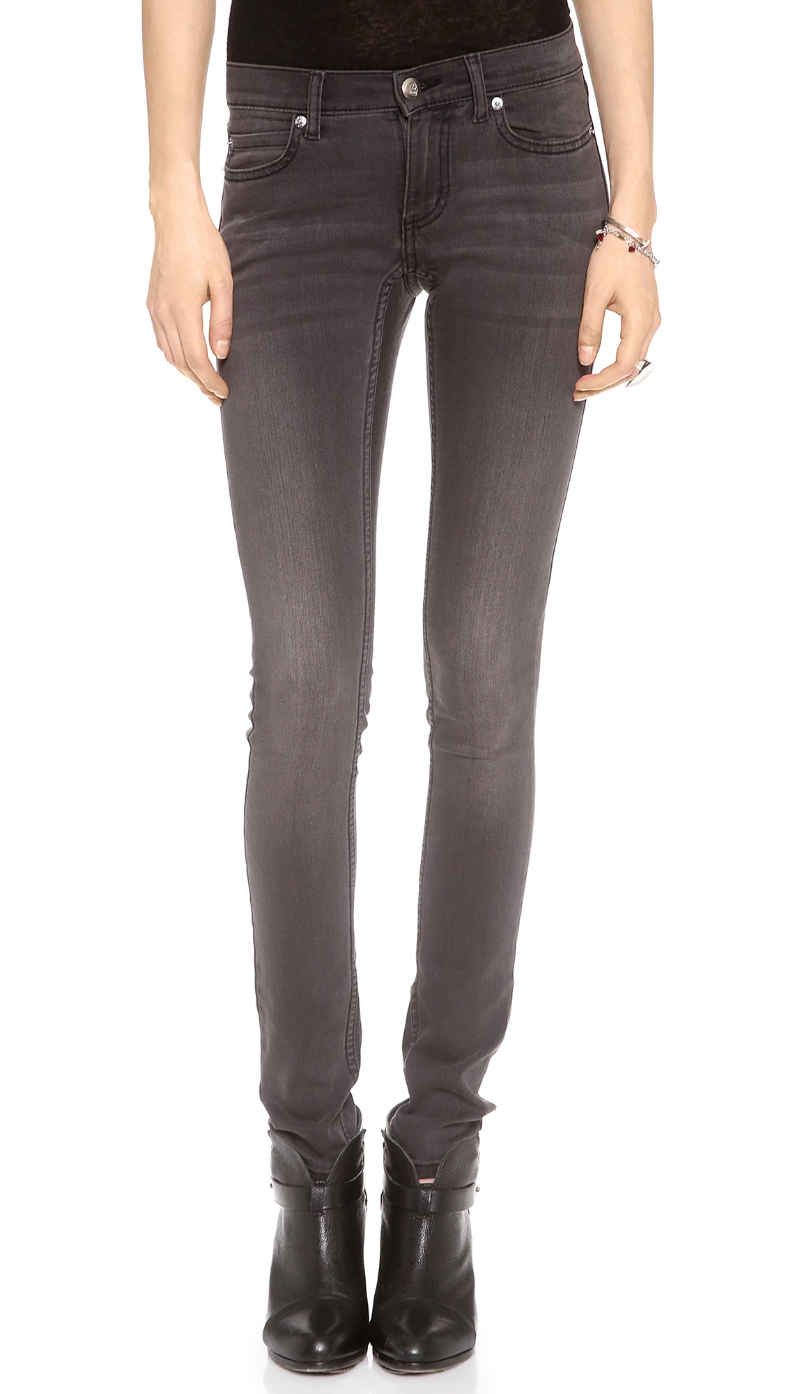 Cheap monday Super Stretch Jeans - Black Shade in Black | Lyst
