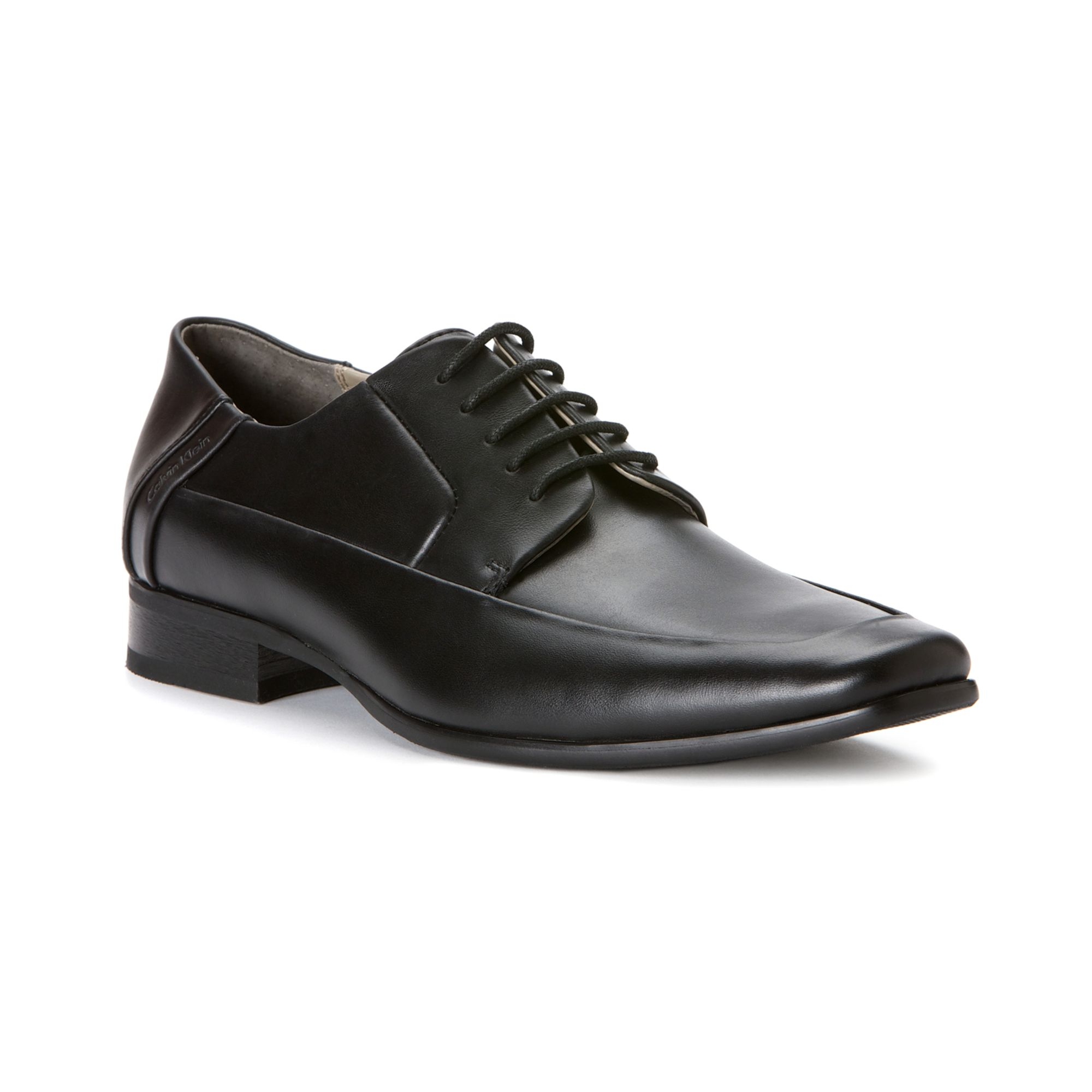 calvin klein brent moc toe lace up shoes in black for