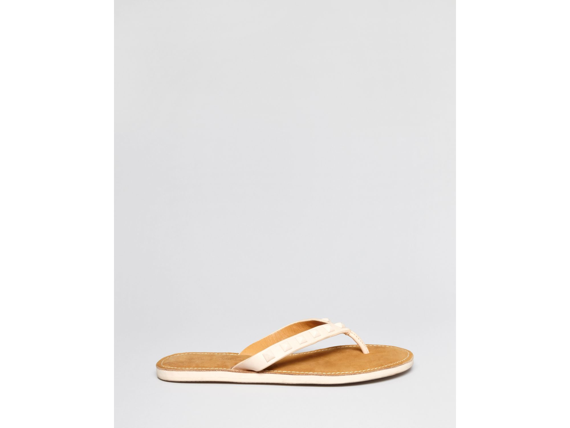c38ec8d95d42 Lyst - Rebecca Minkoff Flat Studded Thong Sandals - Fiona in Pink