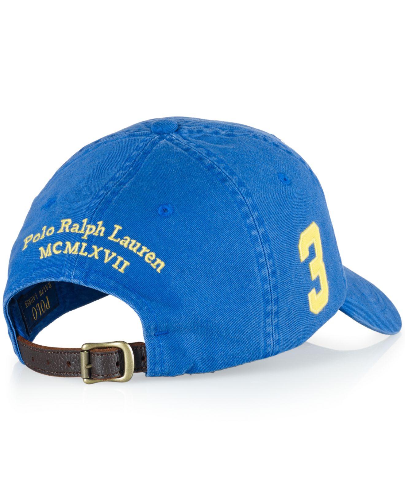 2b7be0e0e Polo Ralph Lauren Classic Chino Sports Cap in Blue for Men - Lyst
