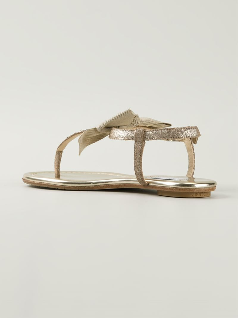 Lyst Jimmy Choo Wren Sandals In Natural