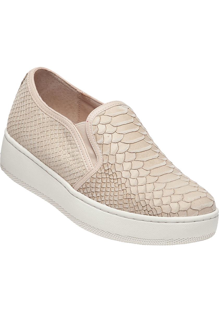 Snakeskin Slip On Shoes