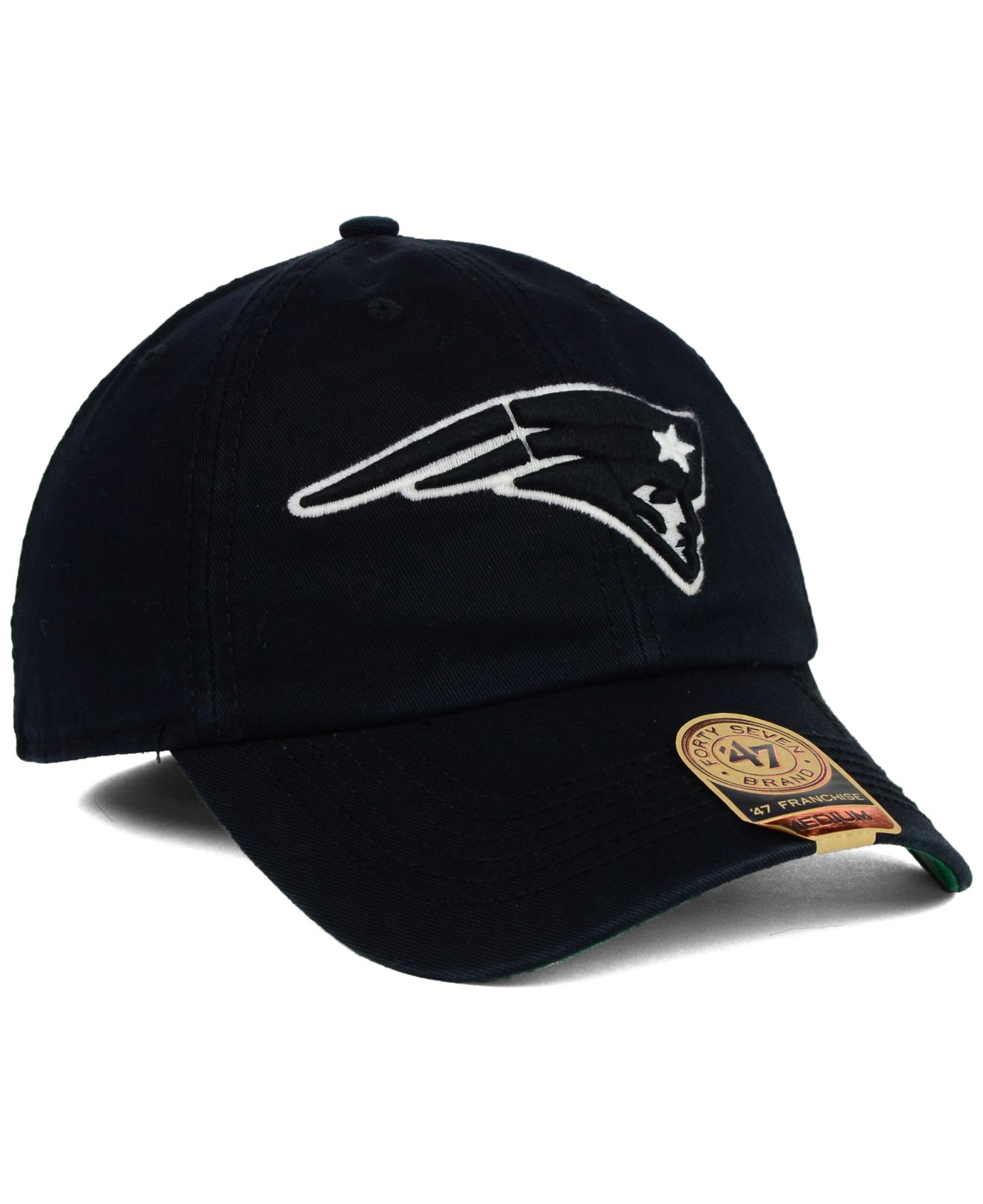 d7bce315a78e9 ... sale lyst 47 brand new england patriots black white franchise cap in  5ffa7 86e7a