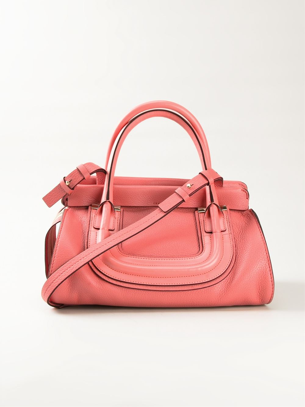 Chloé 'everston' Tote in Pink (yellow & orange) | Lyst