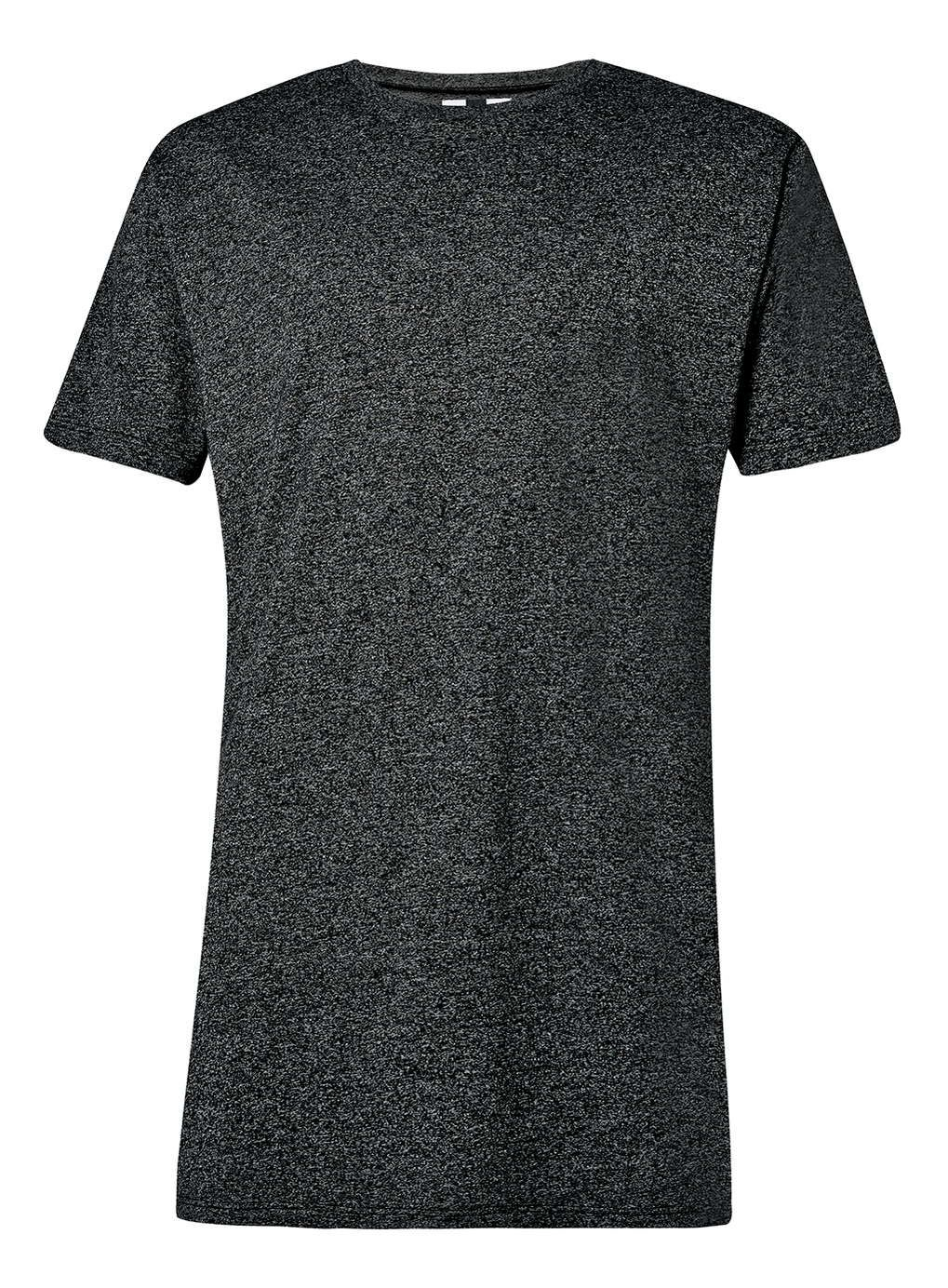 topman long line t shirt in gray for men lyst. Black Bedroom Furniture Sets. Home Design Ideas