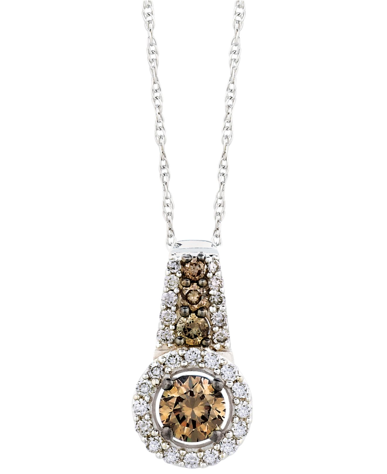 le vian chocolate and white diamond pendant necklace in. Black Bedroom Furniture Sets. Home Design Ideas
