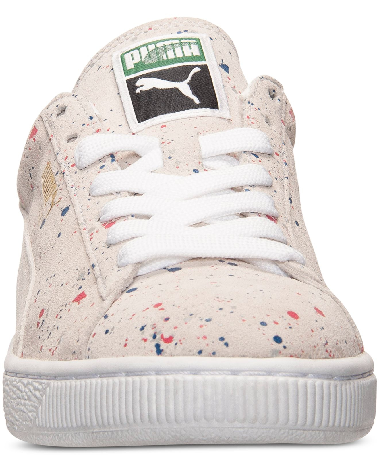 Lyst - PUMA Men s Suede Classic Splatter Casual Sneakers From Finish ... 743a42e72