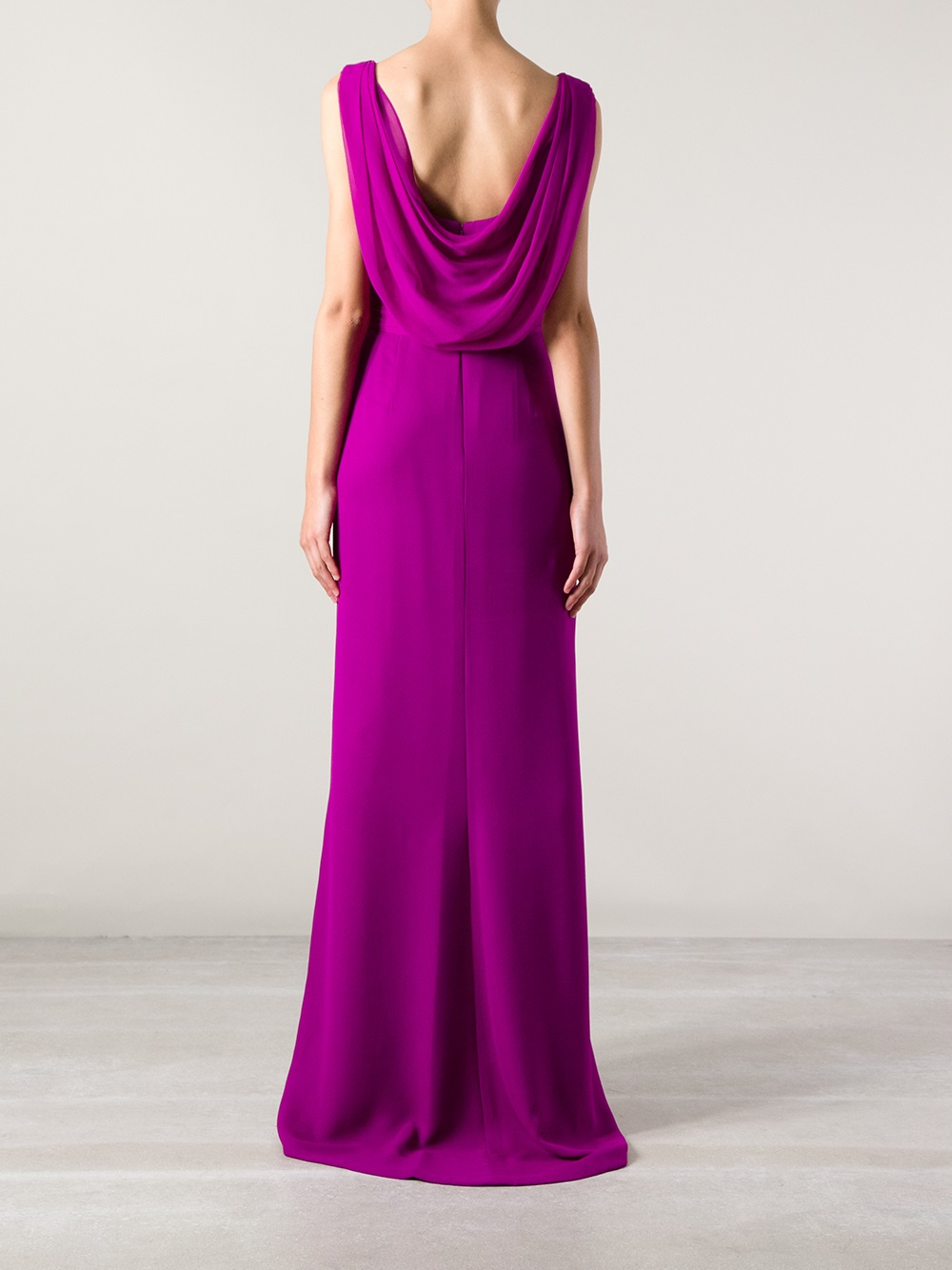 Lyst Marchesa Marchesa Embellished Evening Dress In Purple