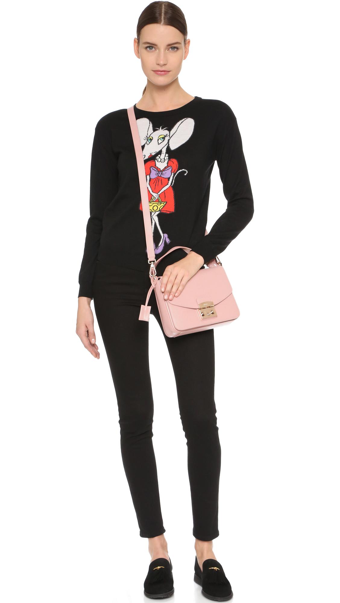 Furla Metropolis Small Shoulder Bag in Pink