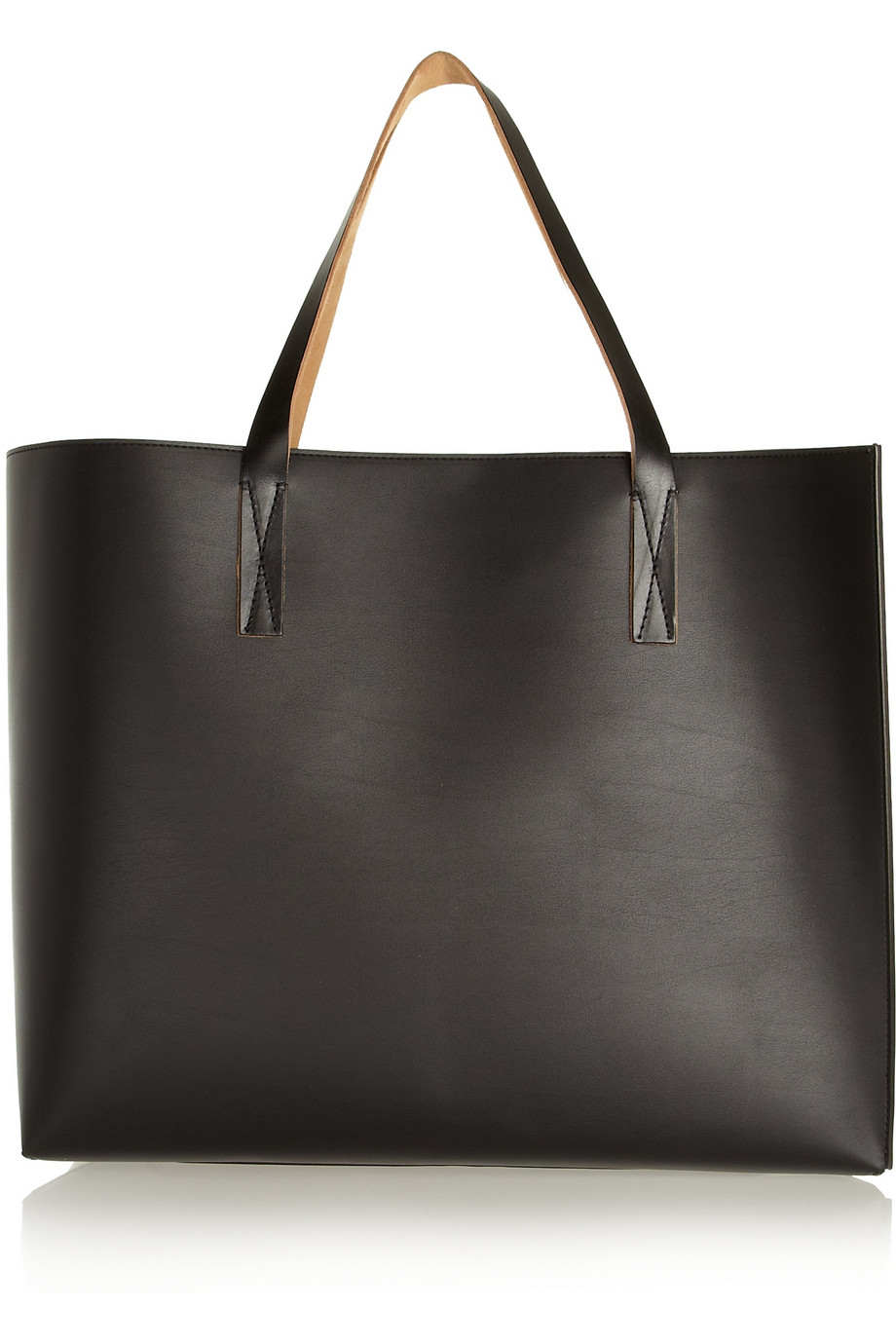 Marni Large Faux Leather Tote In Black Lyst