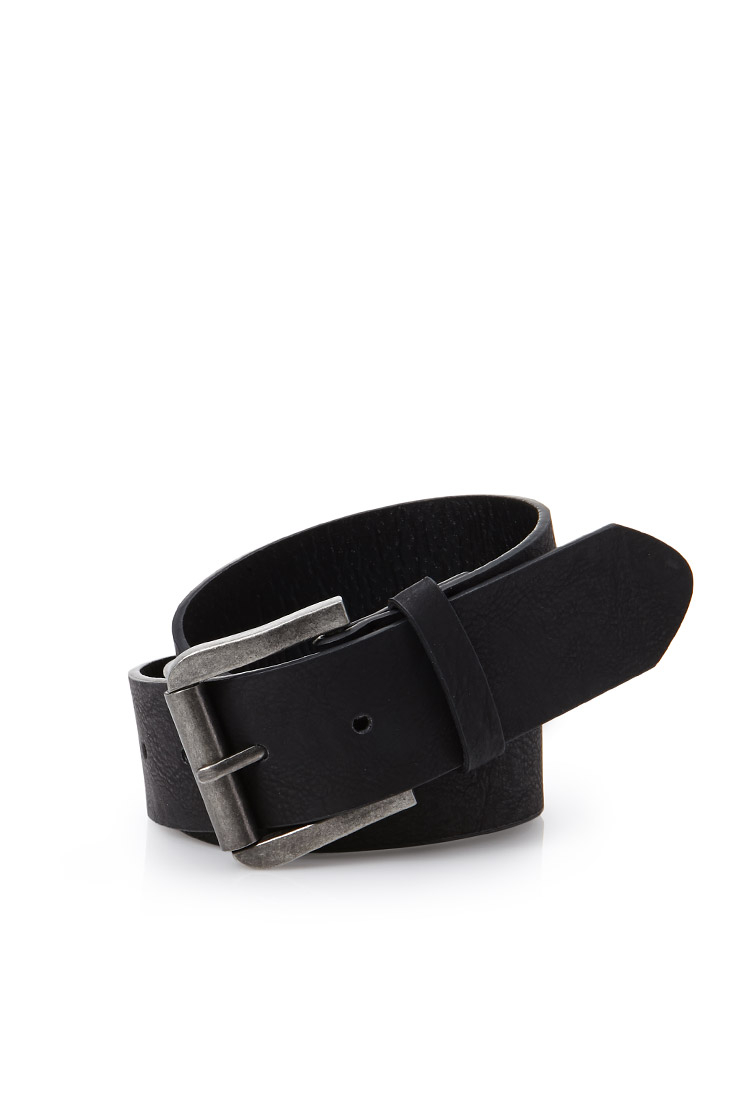 forever 21 faux leather belt in black for lyst