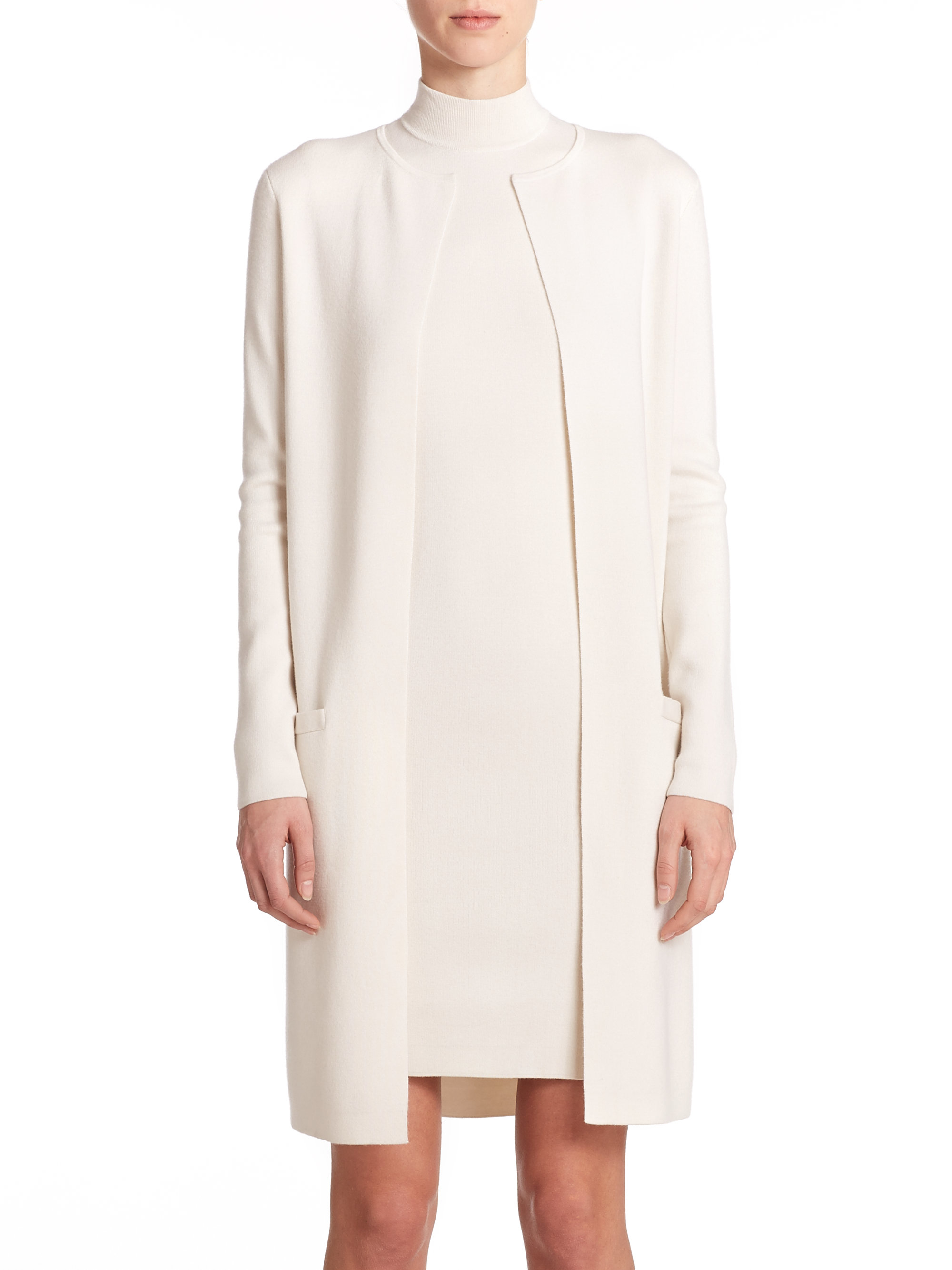 Lyst - Ralph Lauren Black Label Cashmere/silk Long ...