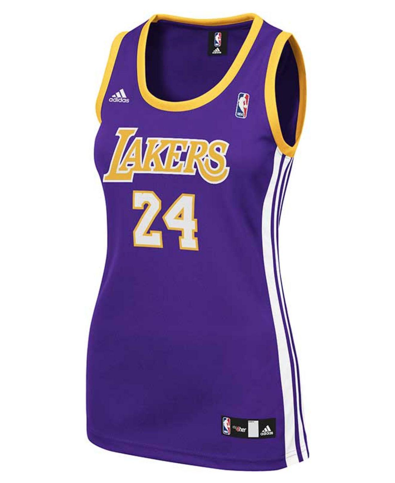rxauda Adidas Women\'s Los Angeles Lakers Kobe Bryant Jersey in Purple | Lyst
