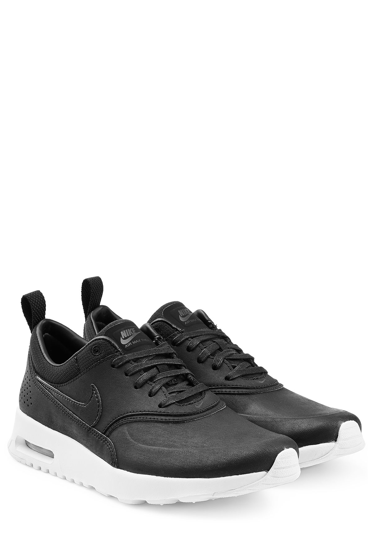 Nike Air Max Thea Premium Leather Sneakers Black In