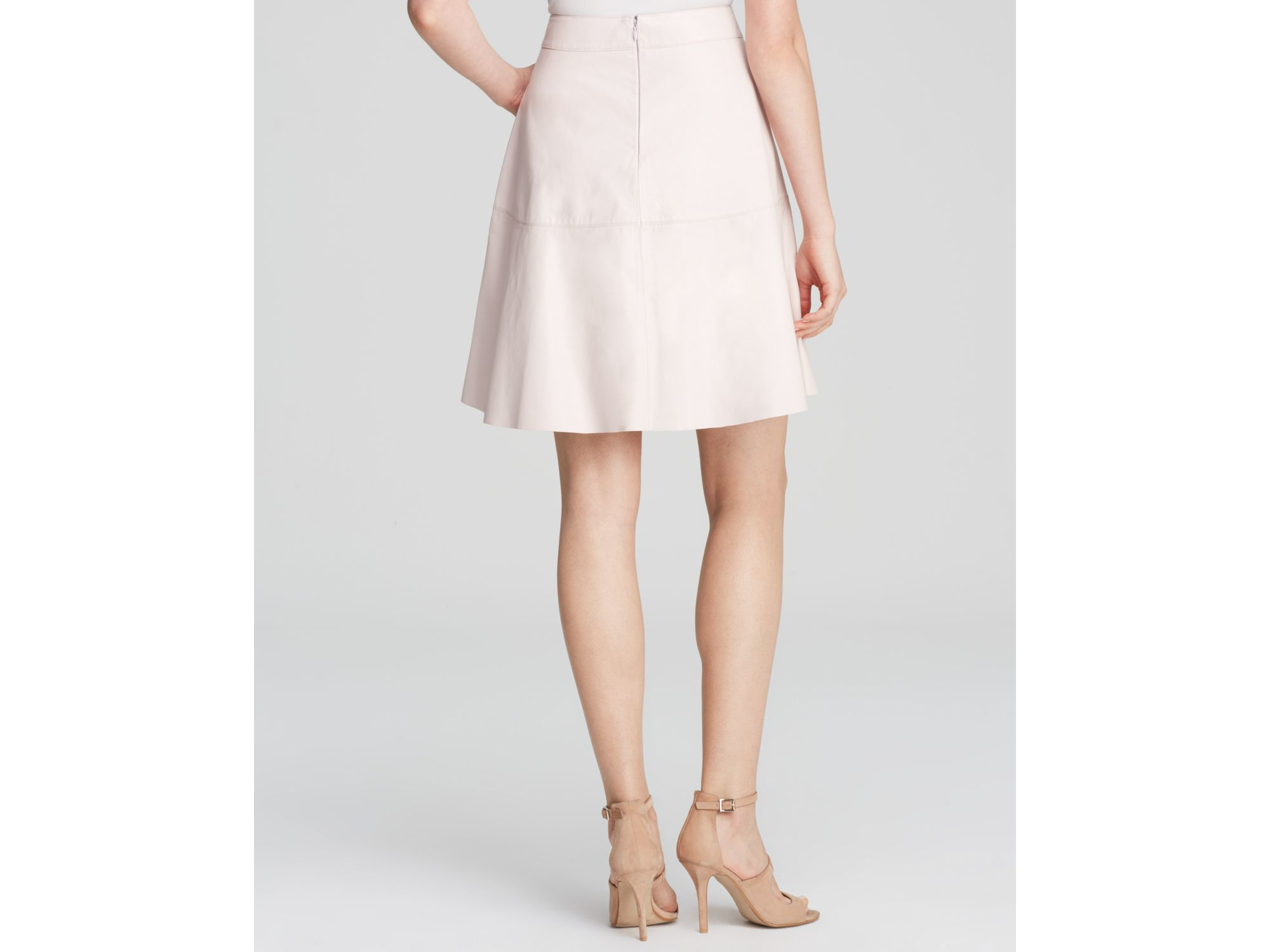 4daf20d24f Joie Decollete Nappa Leather Skirt in Natural - Lyst