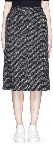 theory ildiko tweed midi skirt in multicolor multi