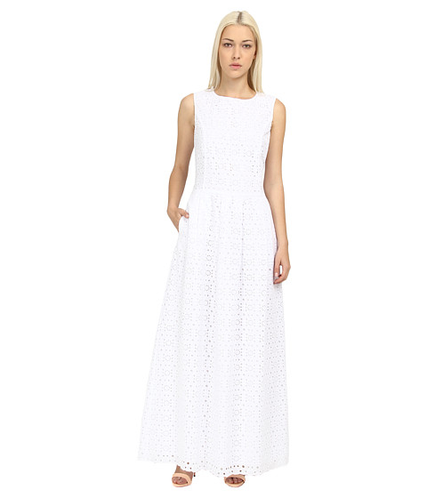 Lyst Love Moschino Eyelet Maxi Dress In White