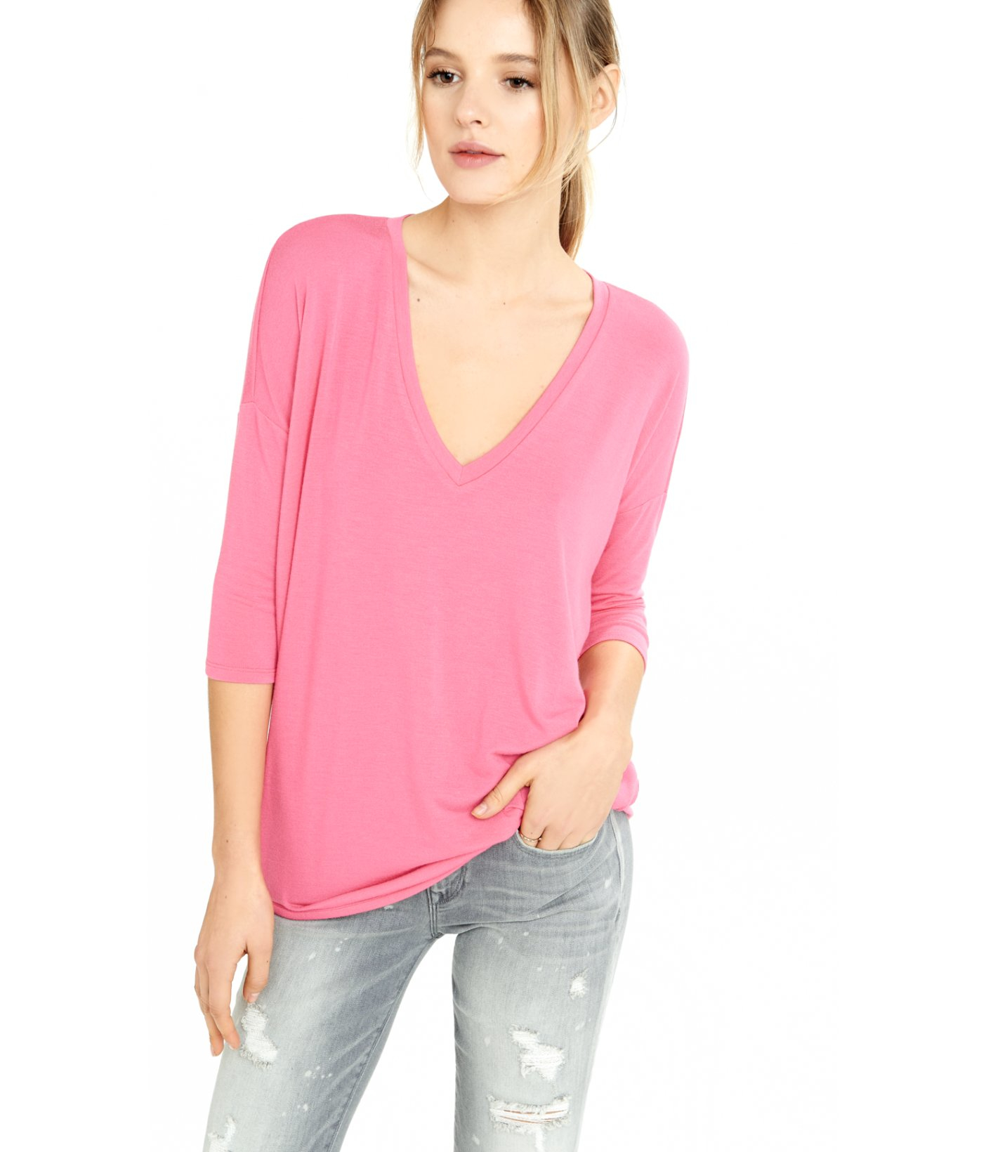170b6f6a Lyst - Express One Eleven London Tee in Pink