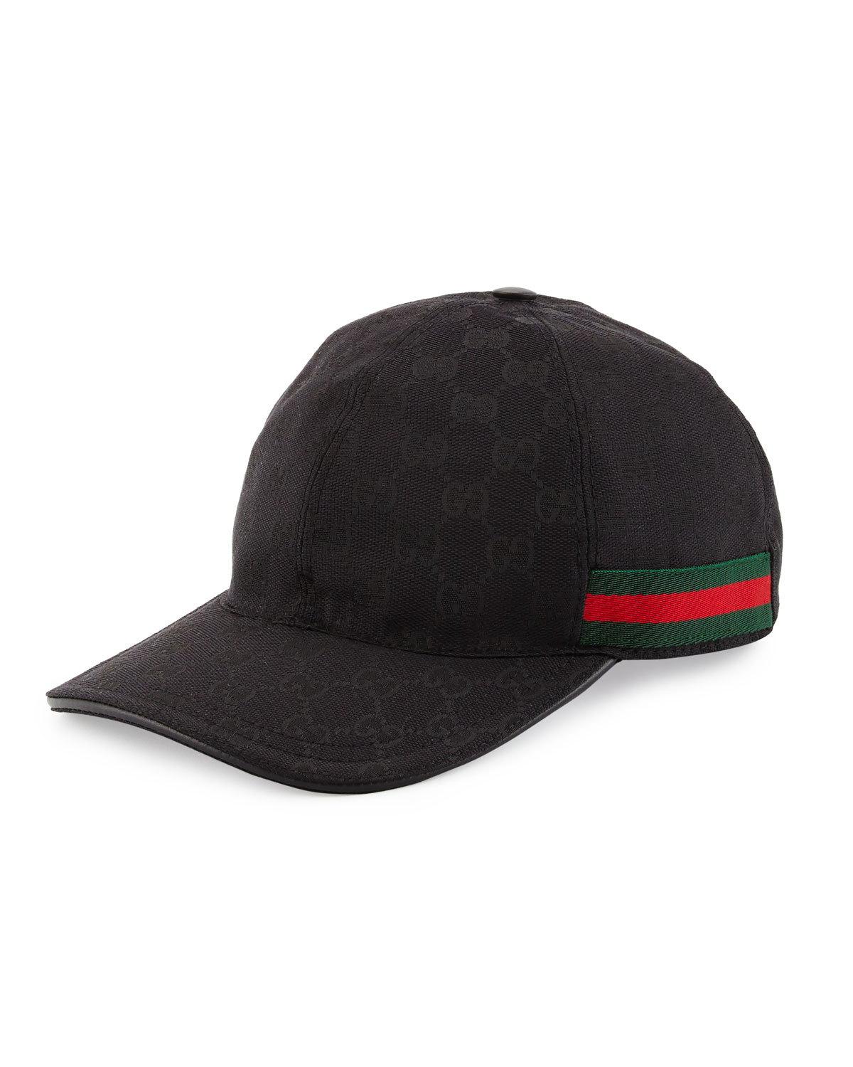 gucci gg print baseball cap w web trim in black for men. Black Bedroom Furniture Sets. Home Design Ideas