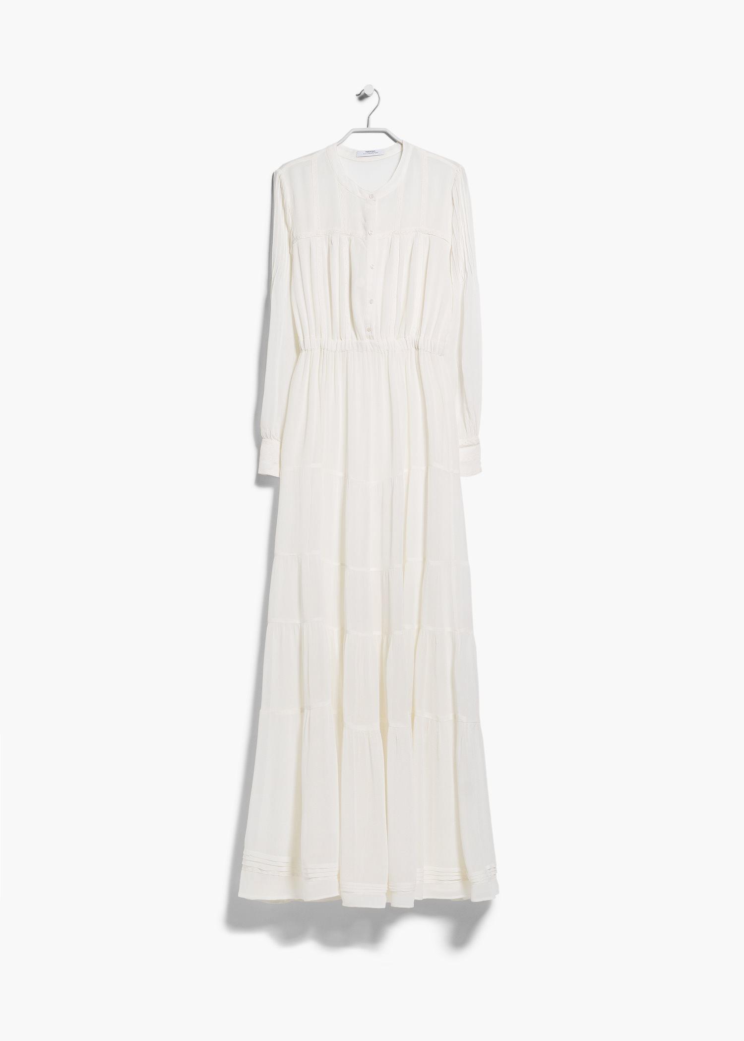 ae175a3f75 Lyst - Mango Boho Flowy Dress in Natural