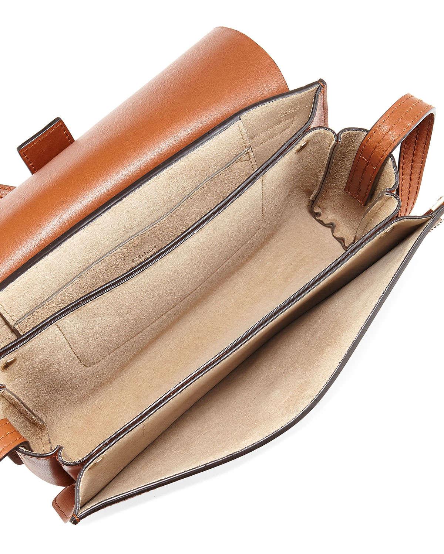 chloe bags brown crocodile