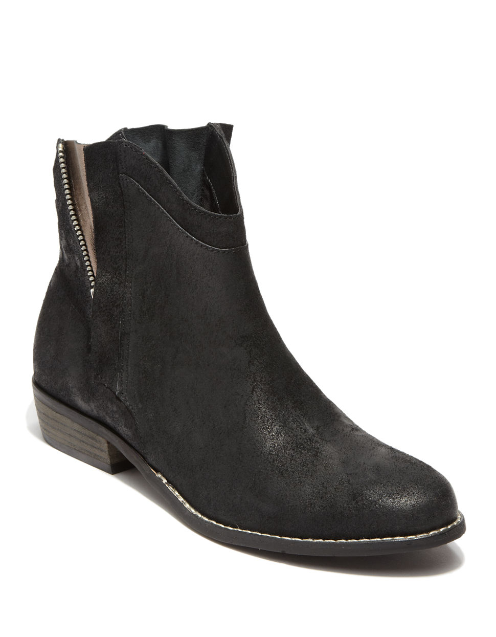 dolce vita deyla synthetic leather ankle boots in black lyst