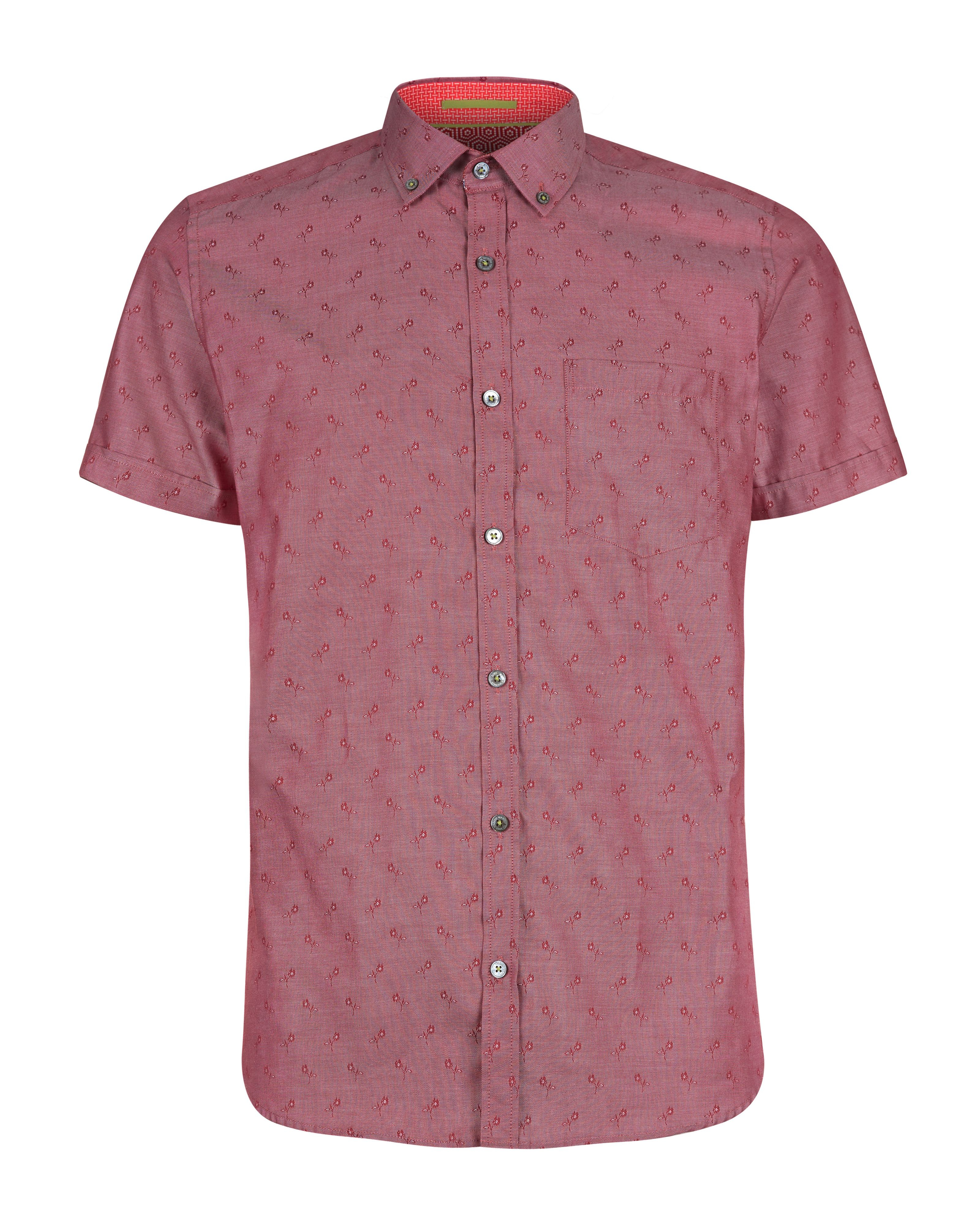 Ted baker ripitup floral jacquard shirt in red for men lyst for Ted baker floral shirt