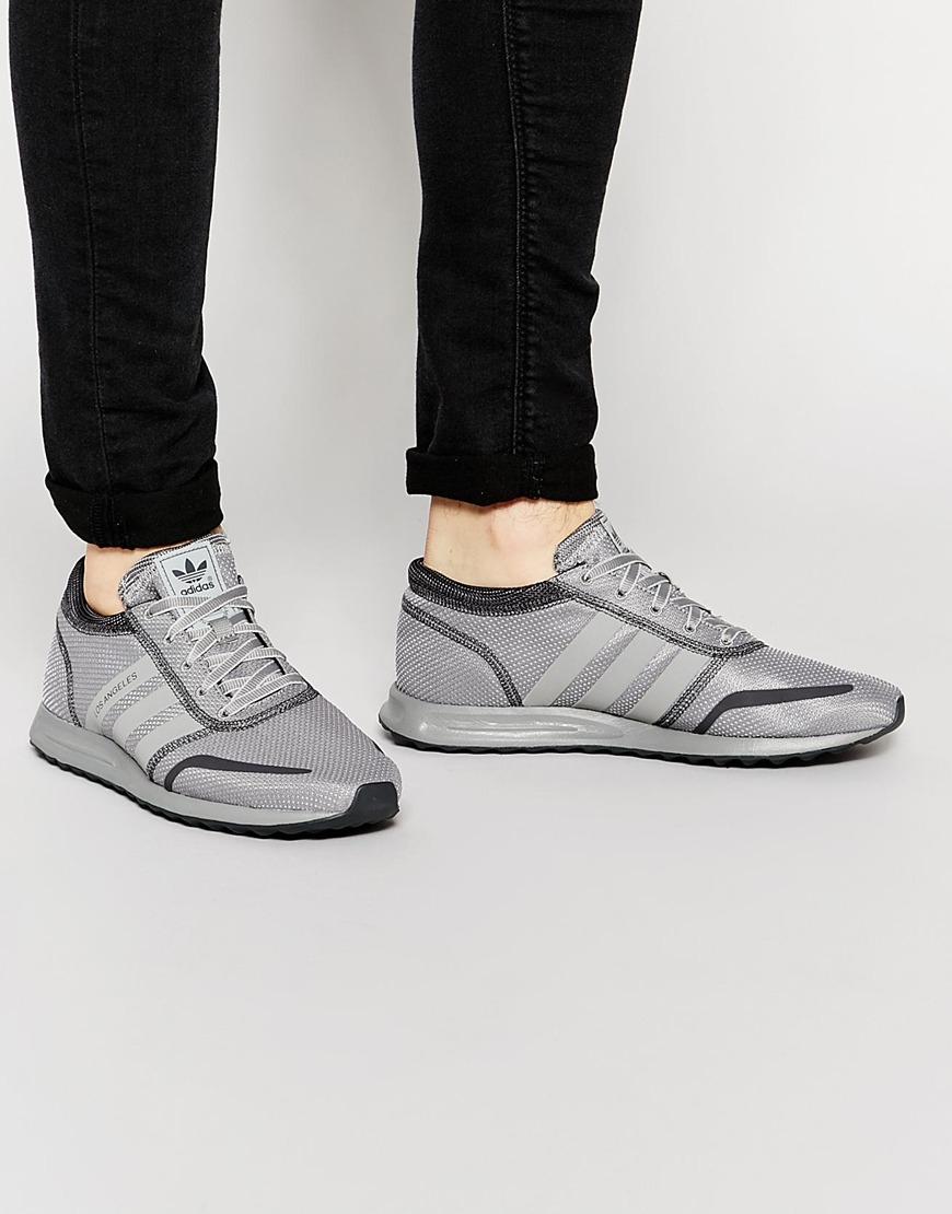 adidas originals los angeles grey silver sneakers. Black Bedroom Furniture Sets. Home Design Ideas
