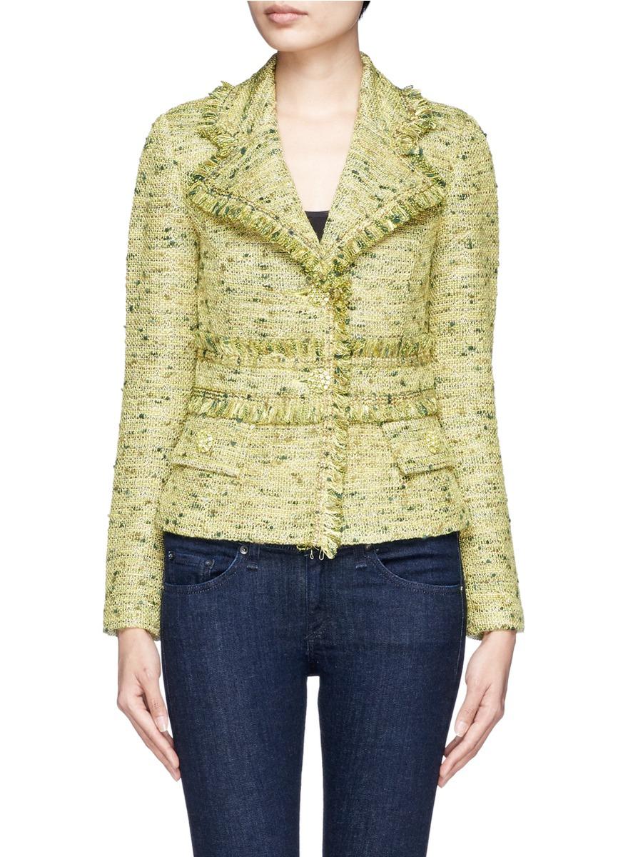River Island Yellow Tweed Jacket