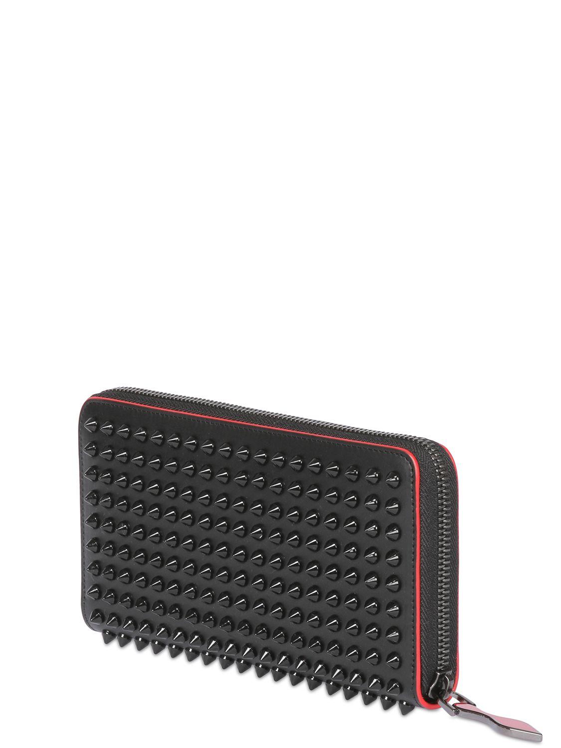 christian louboutin panettone zip around wallet