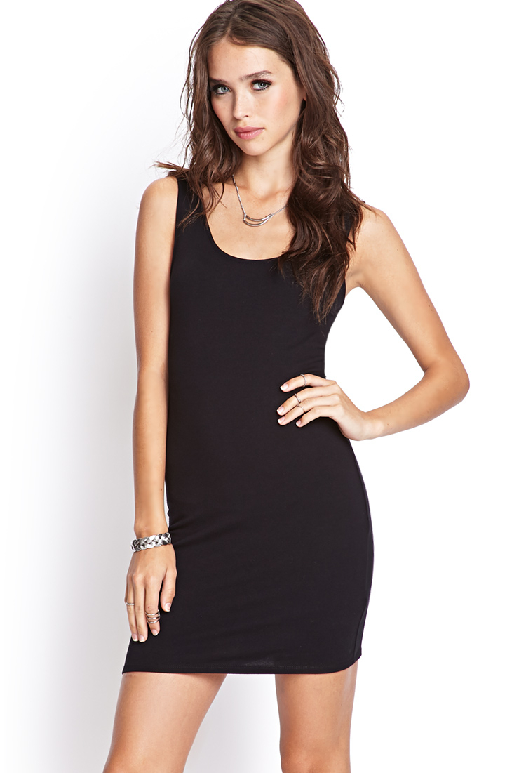 Forever 21 Crossback Bodycon Dress in Black | Lyst