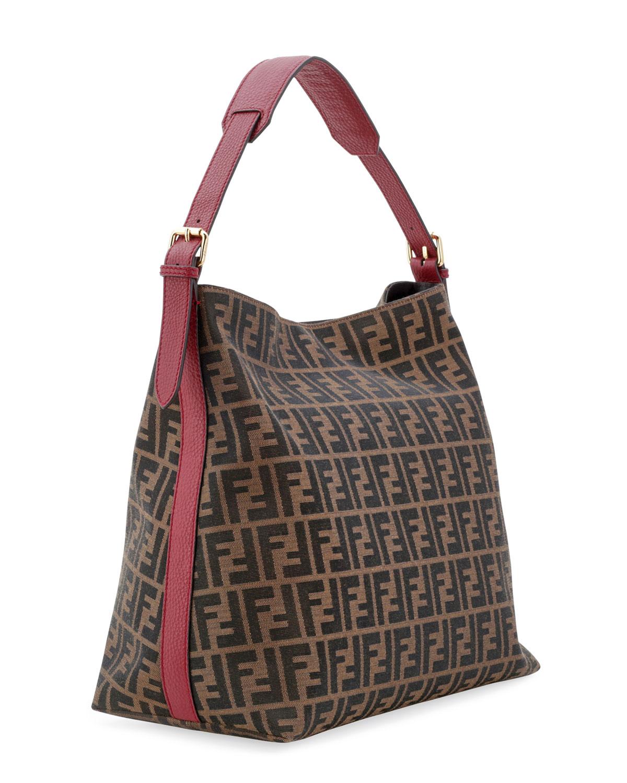 Lyst - Fendi Zucca-Print Large Canvas Hobo Bag in Brown ee374b77a535b