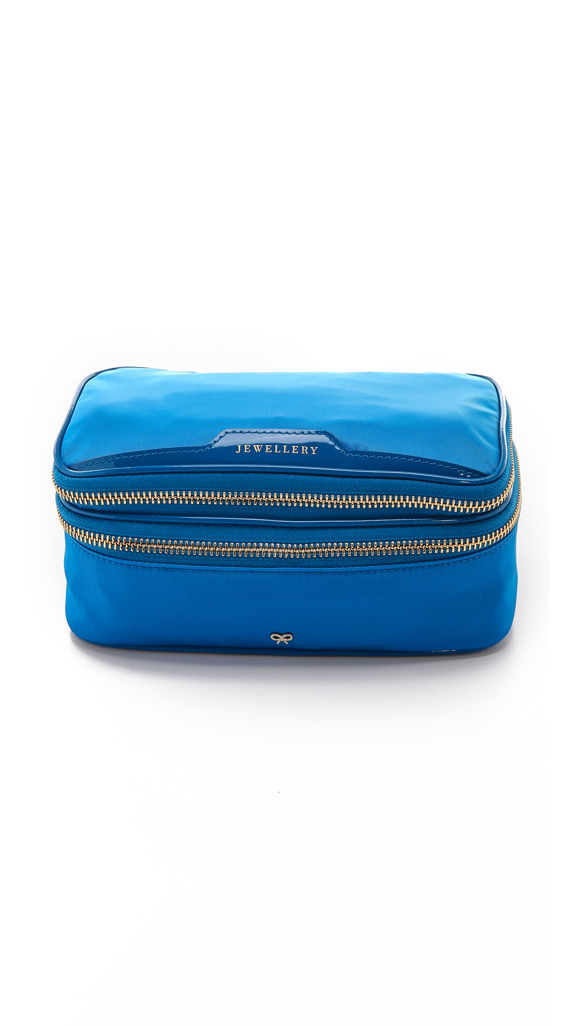 anya hindmarch jewelry pouch cobalt in blue lyst