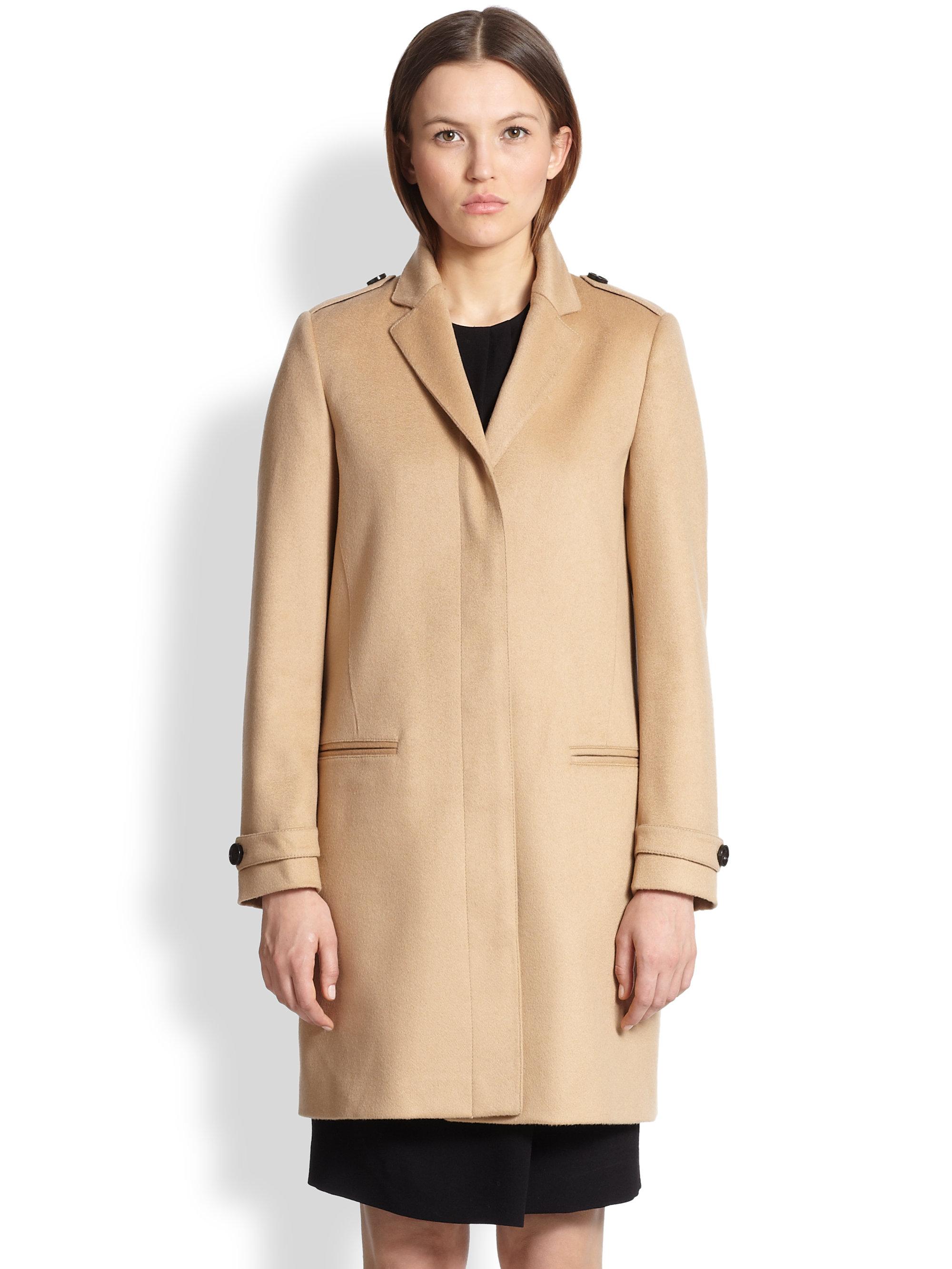 Burberry Inverhill Cashmere Coat in Natural   Lyst