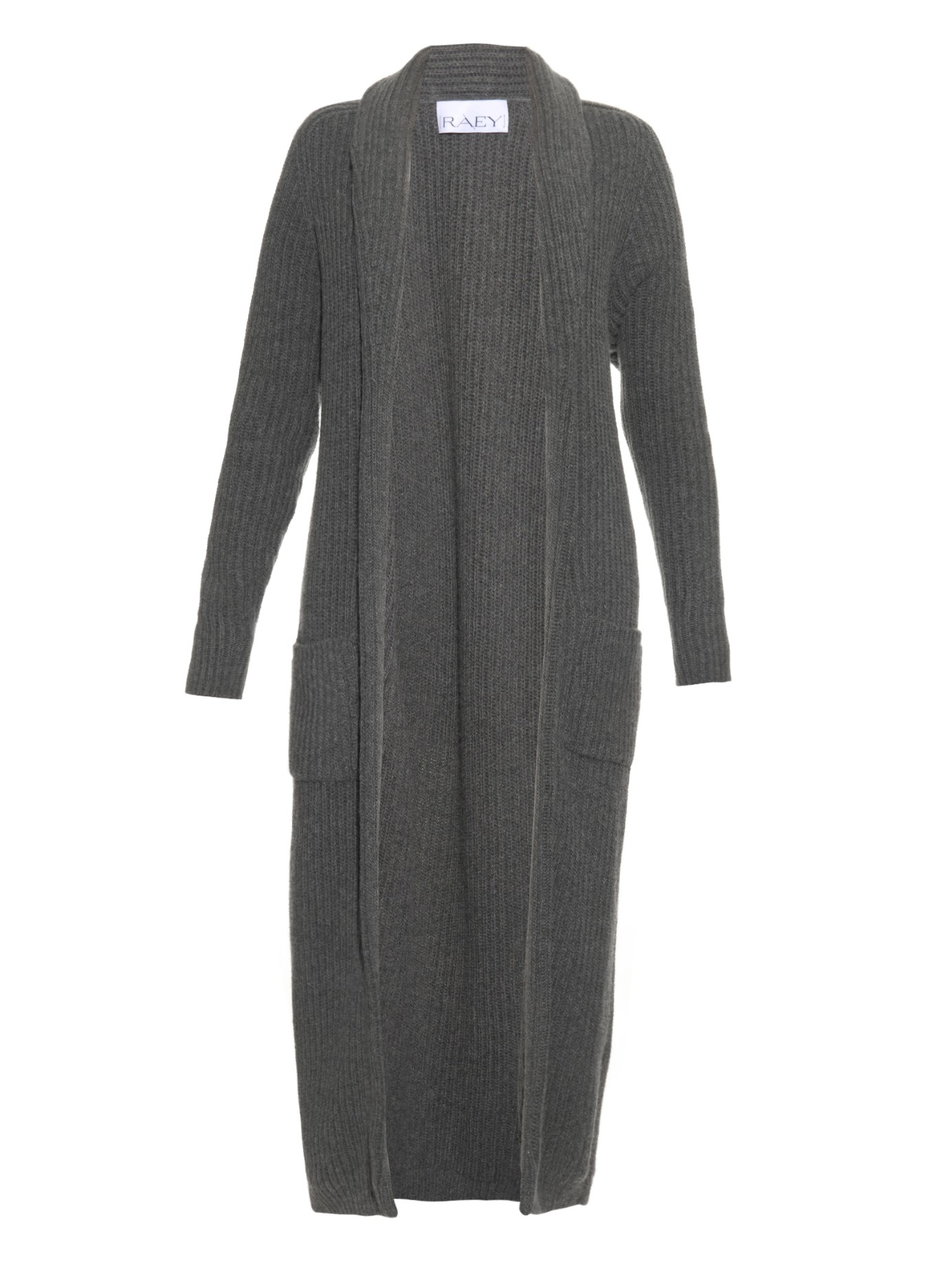 Raey Ribbed-knit Wool And Cashmere-blend Cardigan in Gray | Lyst