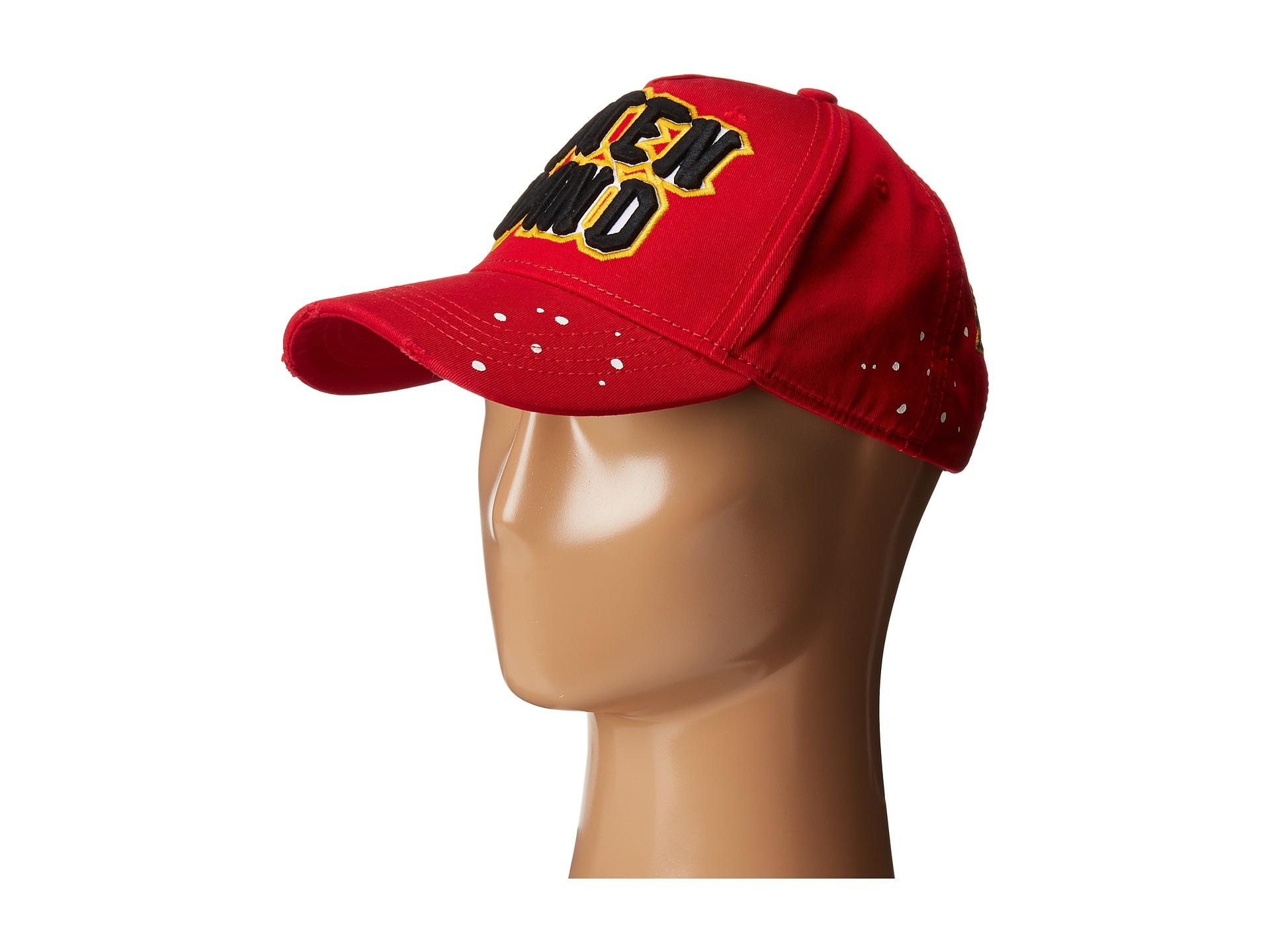 8b6c68556745c1 ... cheapest lyst dsquared caten band baseball cap in red for men b126f  e3fec