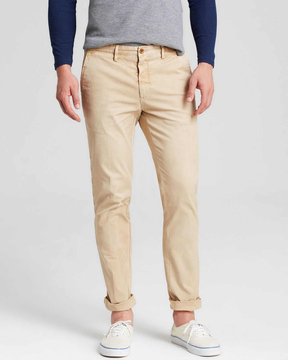 Gant rugger Broken Twill Chino Pants in Natural for Men | Lyst