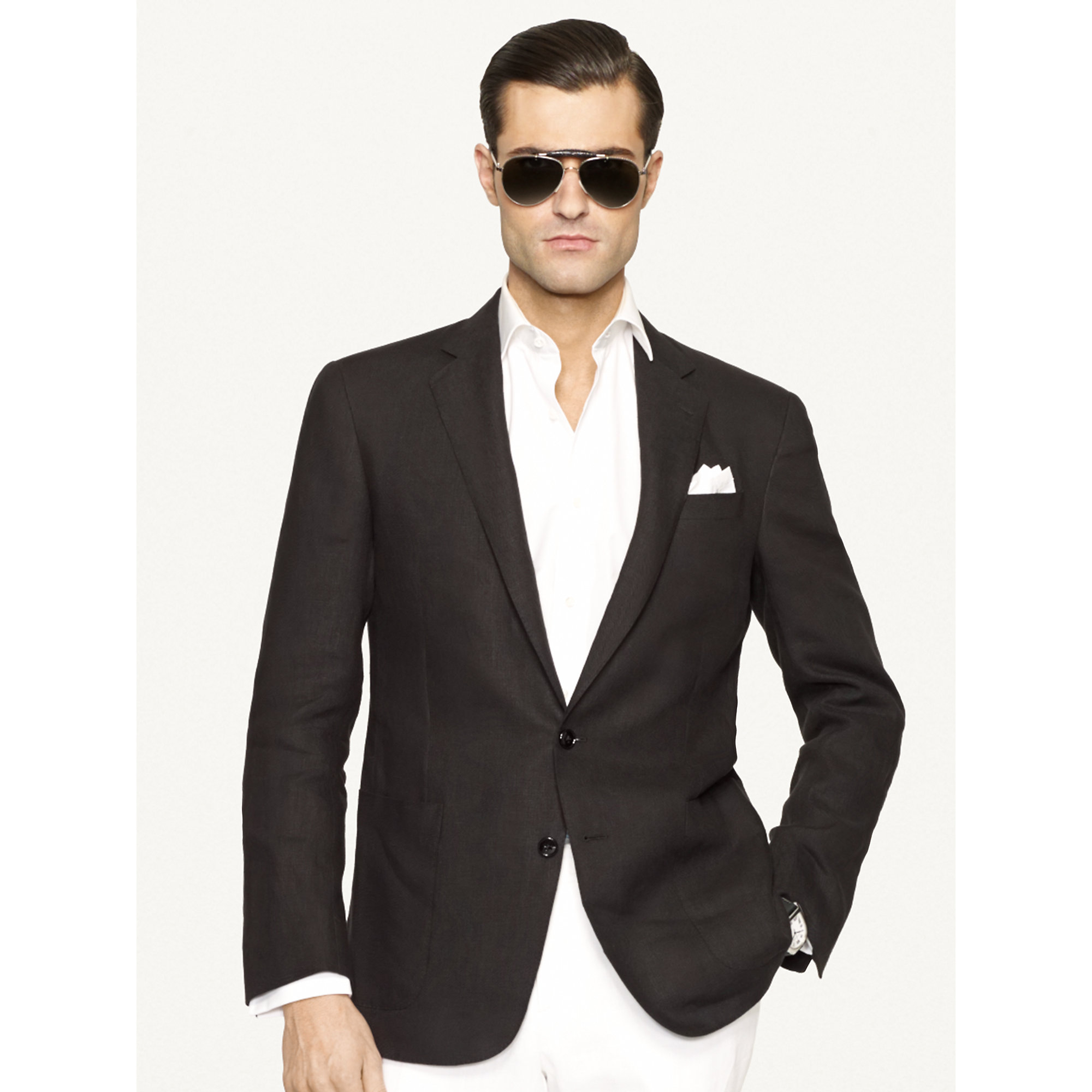 Ralph lauren black label Linen Nigel Sport Coat in Black for Men ...